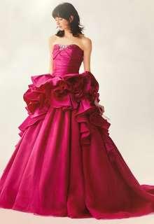 ALESSAのインポートカラードレス