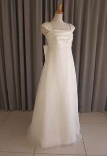 Italian satin & silk organza dress