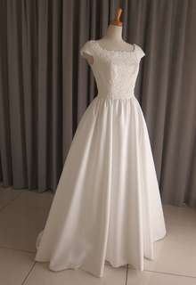 Italian satin & lace dress