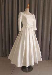 Silk shantung midi dress