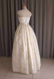 Italian satin & silk organza dress