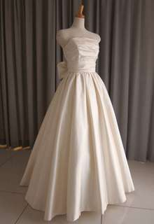 Silk taffeta princess line dress