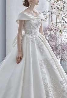 王道プリンセスラインのウェディングドレス
