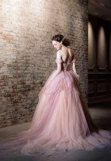 【Cinderella & Co.】グレイッシュピンクのカラードレスSS9668SP