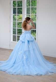 【Cinderella & Co.】ライトブルーのカラードレスSS4592LB