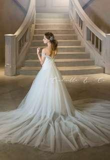 【Cinderella & Co.】ソフトマーメイドのロングトレーンドレスAN0133 by Anellita