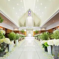 ナチュラルなイメージの大聖堂は花嫁の美しさを引き立てます!