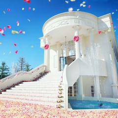 純白の独立型大聖堂【ローズチャペル】バラが敷き詰められた大階段で、ゲストと一緒に大切な時間を過ごそう