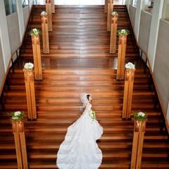 ホテルメインの大階段