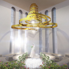 二階吹き抜けの開放感あるチャペル! 全国の小さな結婚式の店舗の中でも最高のクオリティです♪