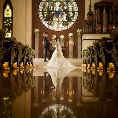 大人気の大聖堂は幻想的