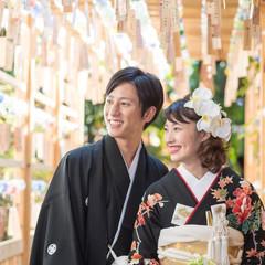 夏限定で開催される川越氷川神社の「縁むすび風鈴」祭事。優しい風鈴の音色がBGMとなる。この時期のロケーション撮影は大人気!専用プランもあるのでチェックしてみて。