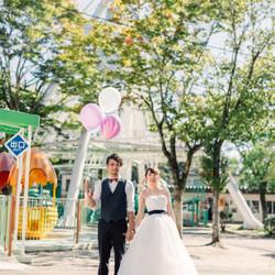 しーちゃんの前撮り ロケーションフォト 熊本 ウェディングドレス