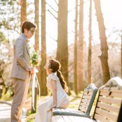 ロケーション 京都前撮り 洋装 洋装持ち込み ドレス ウェディングドレス weddingdress ドレス持ち込み ロケフォト UmoreWedding ユーモアウェディング 森