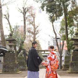 色打掛 和装 ロケーション 紋付袴 洋髪 神社