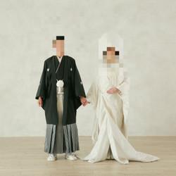 和装 白無垢 黒紋付袴 スタジオ