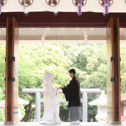 神社 和装 ロケーション