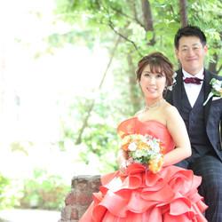 ドレス カラードレス タキシード ロケーション 庭園