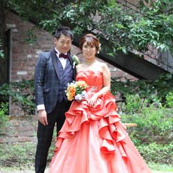 ドレス ロケーション タキシード カラードレス 庭園