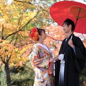 大阪のシンボル大阪城でロケーションフォト婚データ付プラン