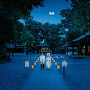 【参道の灯りや本殿ライトアップ】夜の挙式かぐや+披露宴プラン