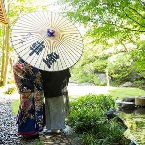 【広大な日本庭園を臨んだ和婚を】隠れ里車屋『 雅(みやび)』