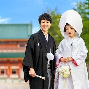 【結婚式のみプラン】紋付袴×白無垢&かつらスタイル着付け