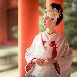 【結婚式のみプラン】紋付袴×白無垢&洋髪スタイル着付け