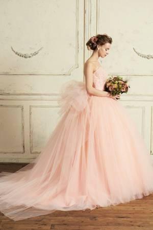 ピンク系 10枚目 【Cinderella & Co.】スモーキーピンクのカラードレスSS5982SP