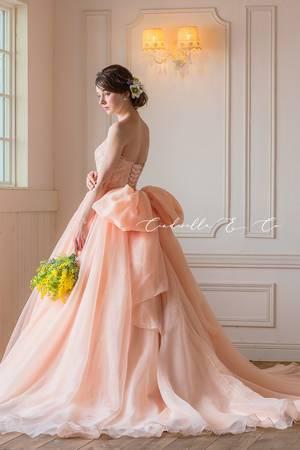 ピンク系 20枚目 【Cinderella & Co.】大人の愛らしいアプリコットピンクのカラードレスSS4592AP