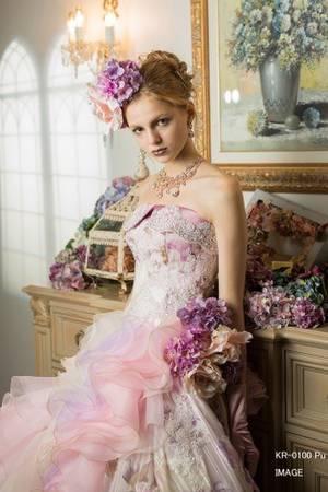 63c91337827f1 紫・パープル系のカラードレス byみんなのウェディング(3ページ目)
