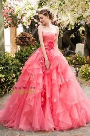 5dd51c5fcaf4b ピンク系のカラードレス byみんなのウェディング