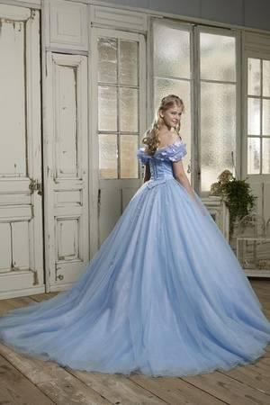 2枚目 NO.シンンデレラブルードレス 「シンデレラ」のようなカラードレス