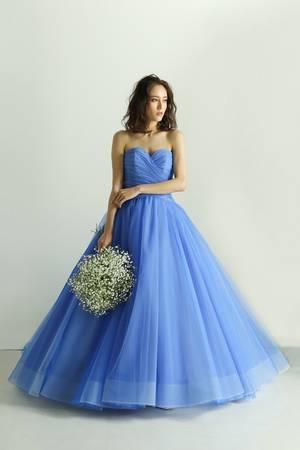 a5d3b7729f8a9 青・ブルー系のカラードレス byみんなのウェディング(4ページ目)