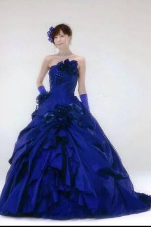703273c027b7a 青・ブルー系のカラードレス byみんなのウェディング(8ページ目)