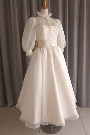 27枚目 Silk taffeta&silk organza midi dress