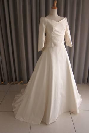 25枚目 Silk taffeta A-line dress