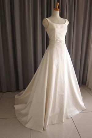 15枚目 Silk taffeta A-line dress