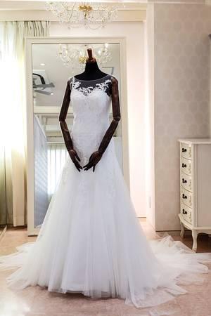 20枚目 繊細レースのノースリーブのスレンダードレス AN0155 by Anellita