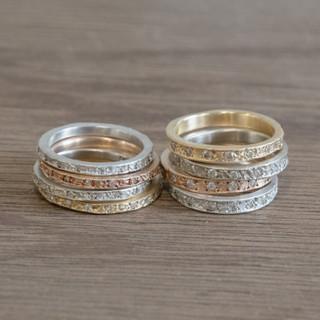 Eternity Diamond Engagement Ring narrow type- エタニティ ダイヤモンド エンゲージリング ナロータイプ