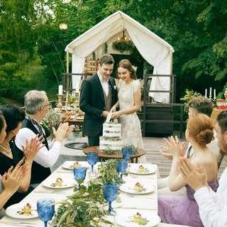 【家族で結婚式したいカップルへ】挙式+会食の少人数プラン