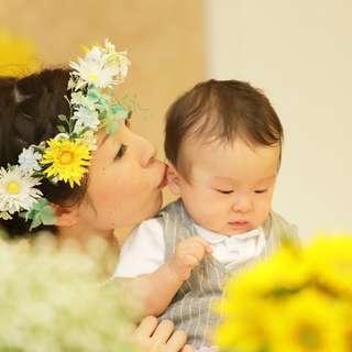 wedding with child