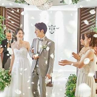 7月、8月の結婚式が衣装など全て含んで3万3,500円で叶う