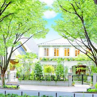 """定禅寺通りの緑溢れる邸宅""""特別迎賓館""""  旧伯爵邸のような佇まいのゲストハウスと、 白を基調とした吹き抜けの独立型チャペル  完全貸切の会場を おふたりらしく自由にご利用頂き、 特別な一日をより贅沢に 叶えましょう。"""