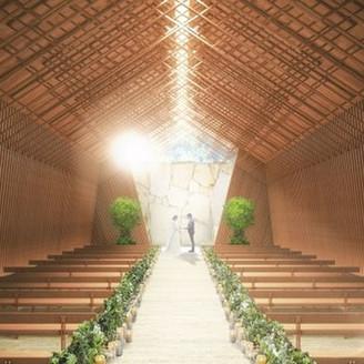 【2020年リニューアル】 光と森のチャペル「グレース」 自然光が注ぐ豊かな木々に囲まれたチャペル。