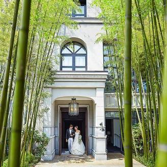表参道徒歩2分の地に佇む、竹林に囲まれたウエディングの舞台。