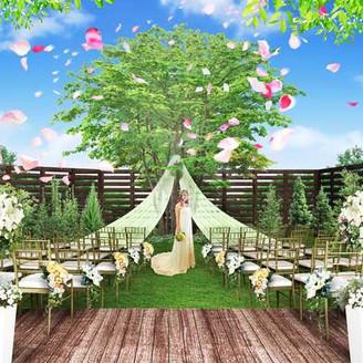 ガーデンを使ってのガーデン挙式も可能!