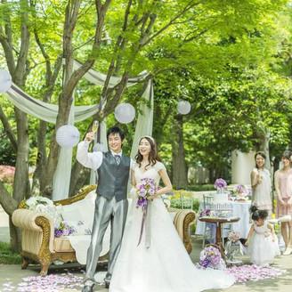 緑あふれる結婚式