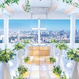 ゲストに東京らしい眺望をプレゼントできるチャペル