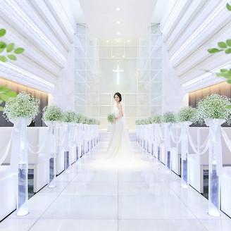 透明感のあるホワイトチャペル。おもてなしの詰まった空間で大切な方々と永遠の愛を誓おう!
